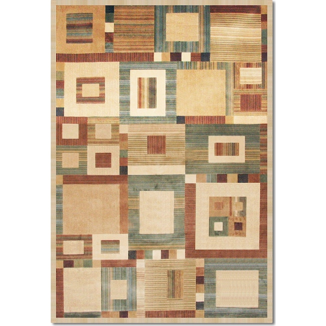 Rugs - Sonoma Ardyce 8' x 10' Area Rug - Rust and Beige