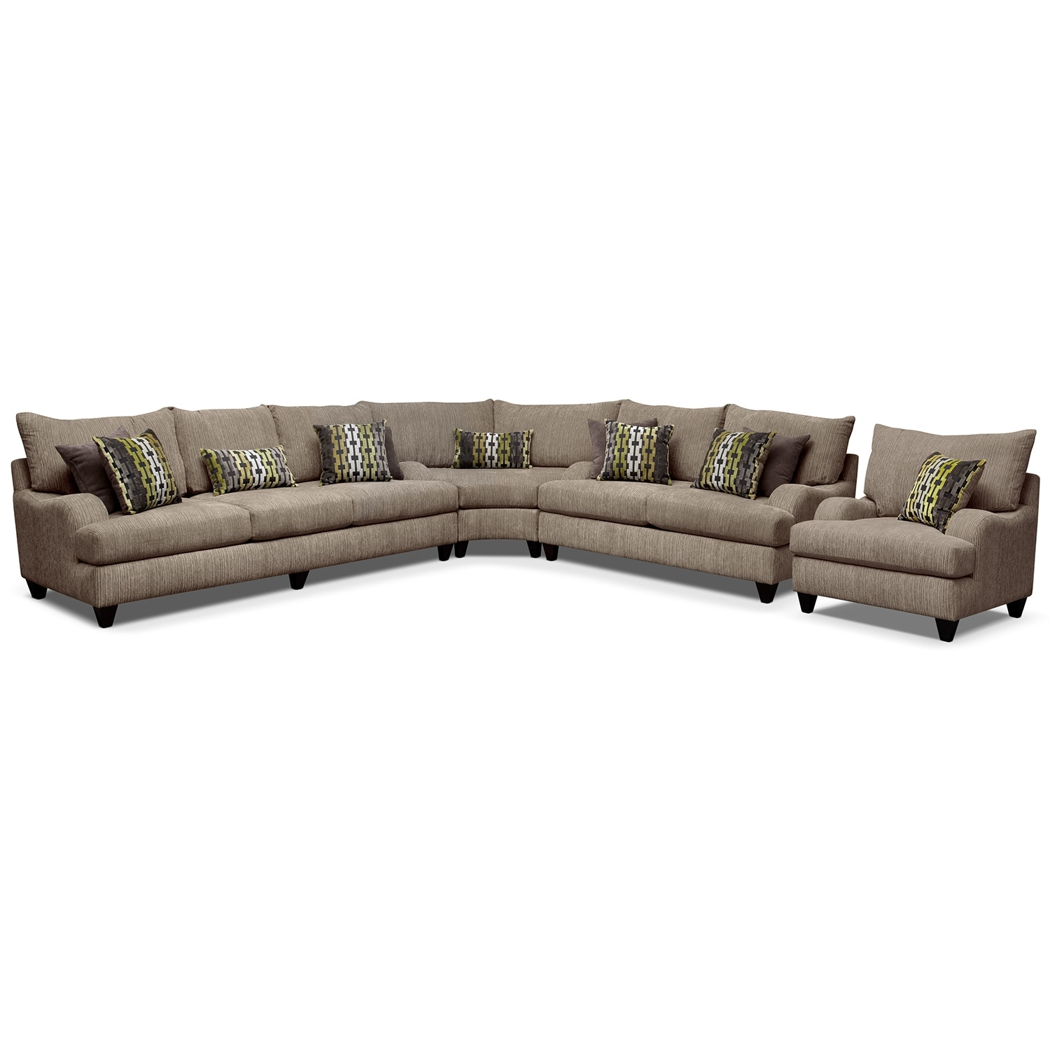 Living Room Furniture - Santa Monica II 3 Pc. Sectional and Chair