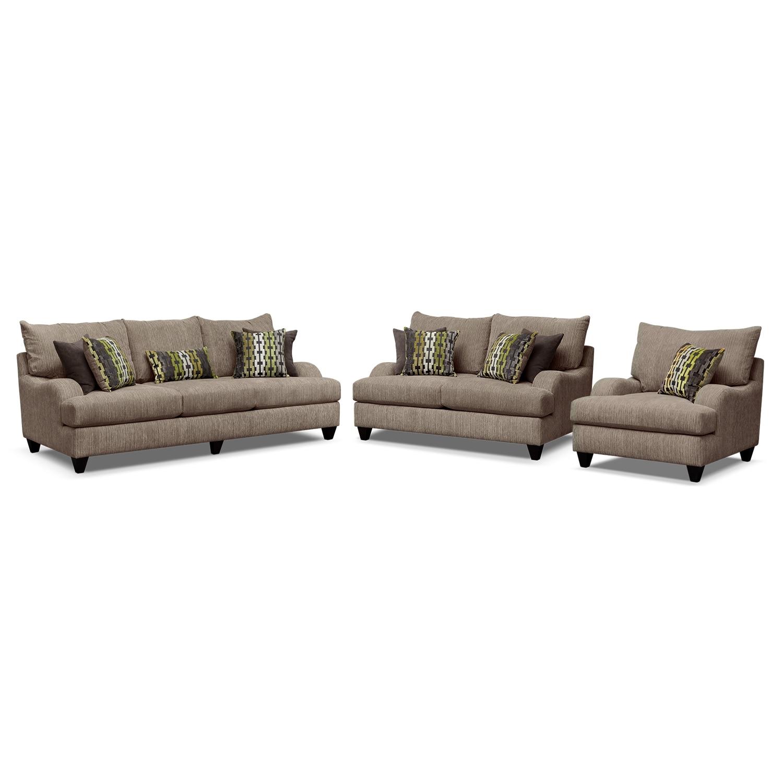 Living Room Furniture - Santa Monica 3 Pc. Living Room