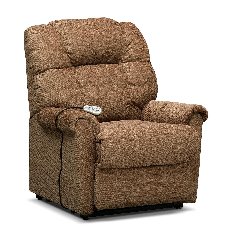 Living Room Furniture - Vantage Small Power Lift Massage Chair - Bark