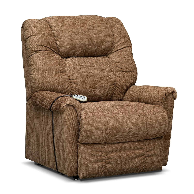 Living Room Furniture - Vantage Large Power Lift Massage Chair - Bark