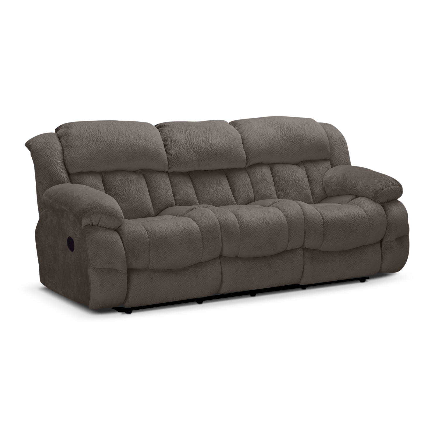 Park City Dual Reclining Sofa - Gray | Value City Furniture