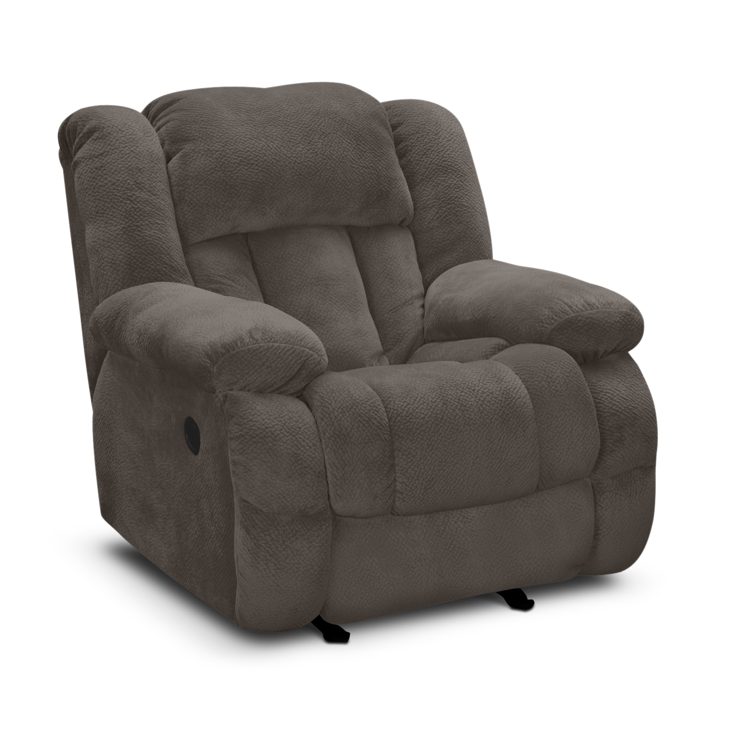 Living Room Furniture - Park City Glider Recliner - Gray
