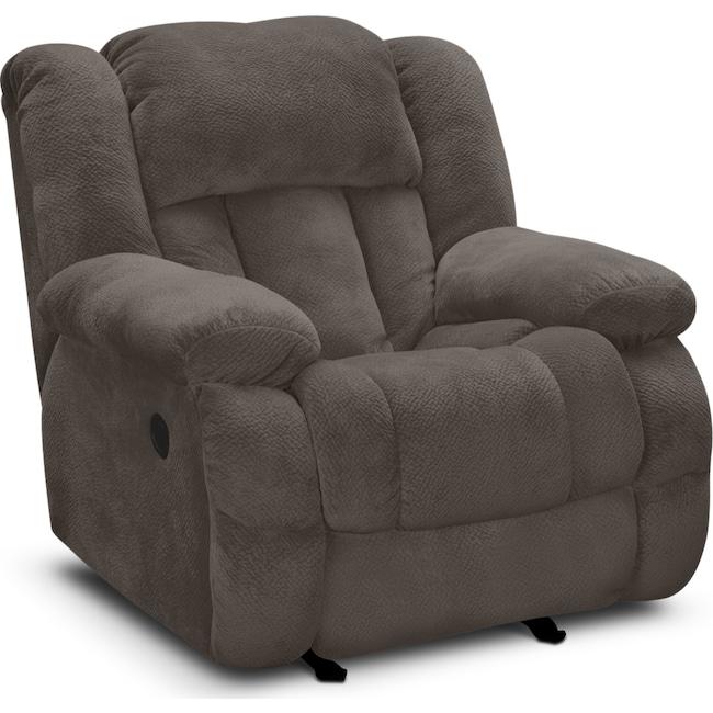 Living Room Furniture - Park City Glider Recliner - Gray