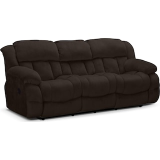 Park City Dual Reclining Sofa - Chocolate