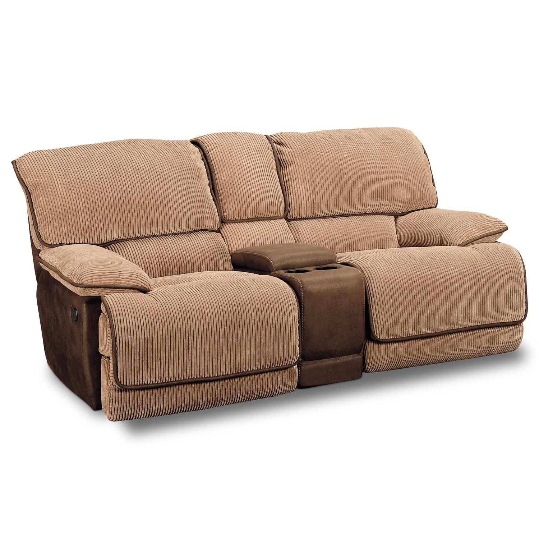 Living Room Furniture - Laguna Gliding Reclining Loveseat