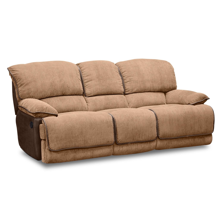 Superbe Laguna Dual Reclining Sofa   Camel By One80