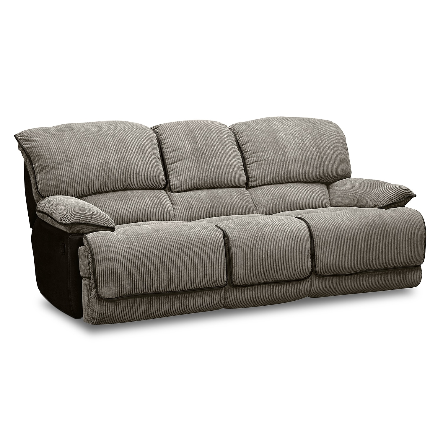 Laguna Reclining Sofa, Gliding Reclining Loveseat and Glider Recliner Set - Steel : Value City ...