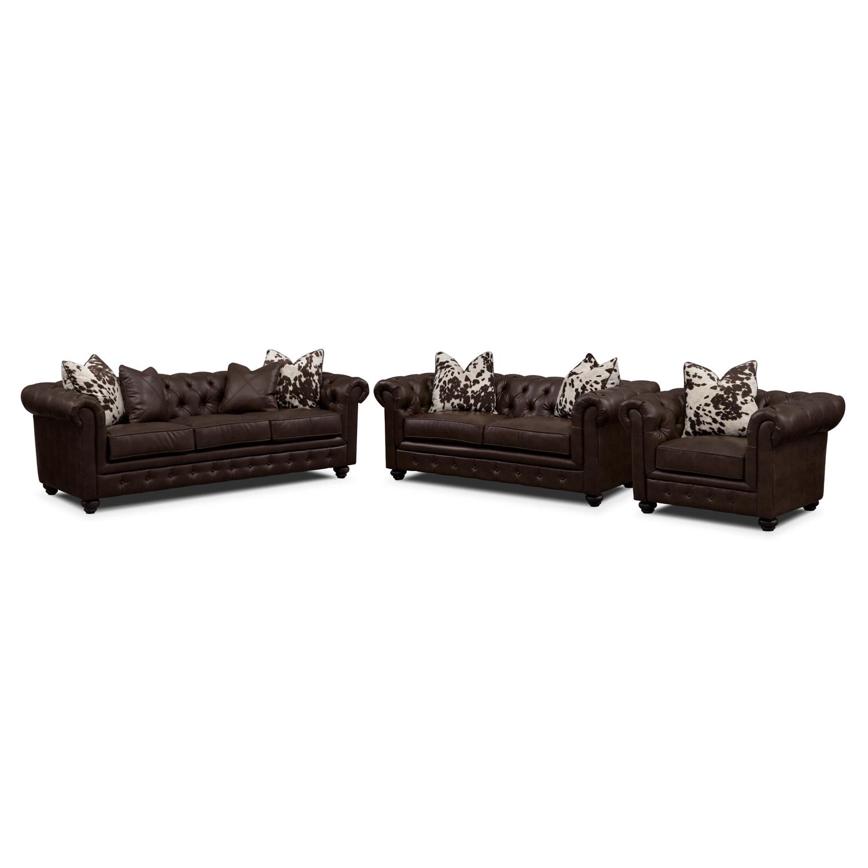 Madeline II Leather 3 Pc Living Room Value City Furniture : 292835 from valuecityfurniture.com size 1500 x 1500 jpeg 86kB