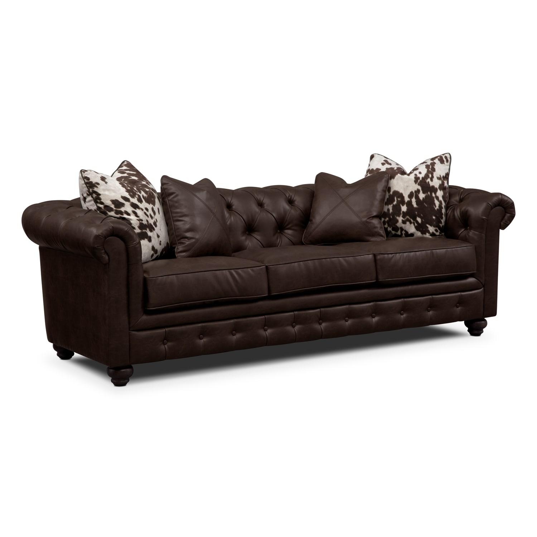 Living Room Furniture - Madeline Sofa - Chocolate