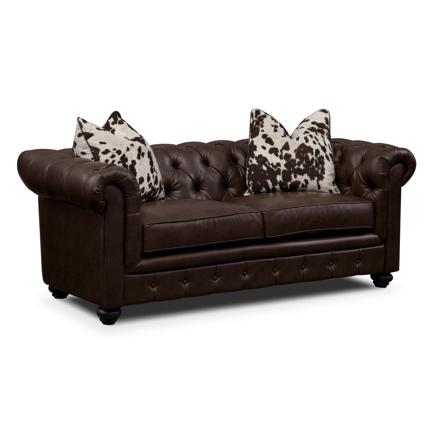 Living Room Furniture - Madeline Chocolate Apartment Sofa