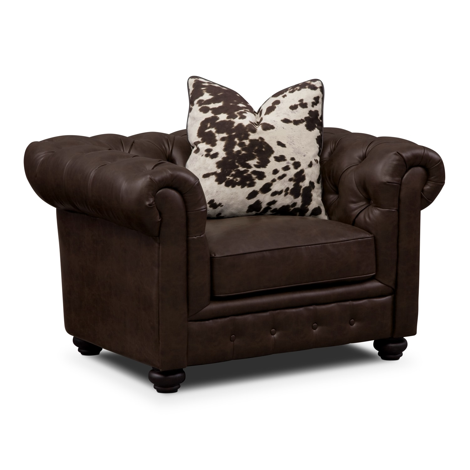 Living Room Furniture - Madeline Chocolate Chair