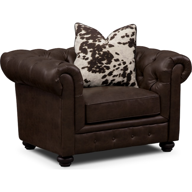 Living Room Furniture - Madeline Chair - Chocolate