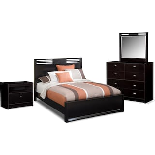 Bally 6-Piece Queen Bedroom Set - Espresso
