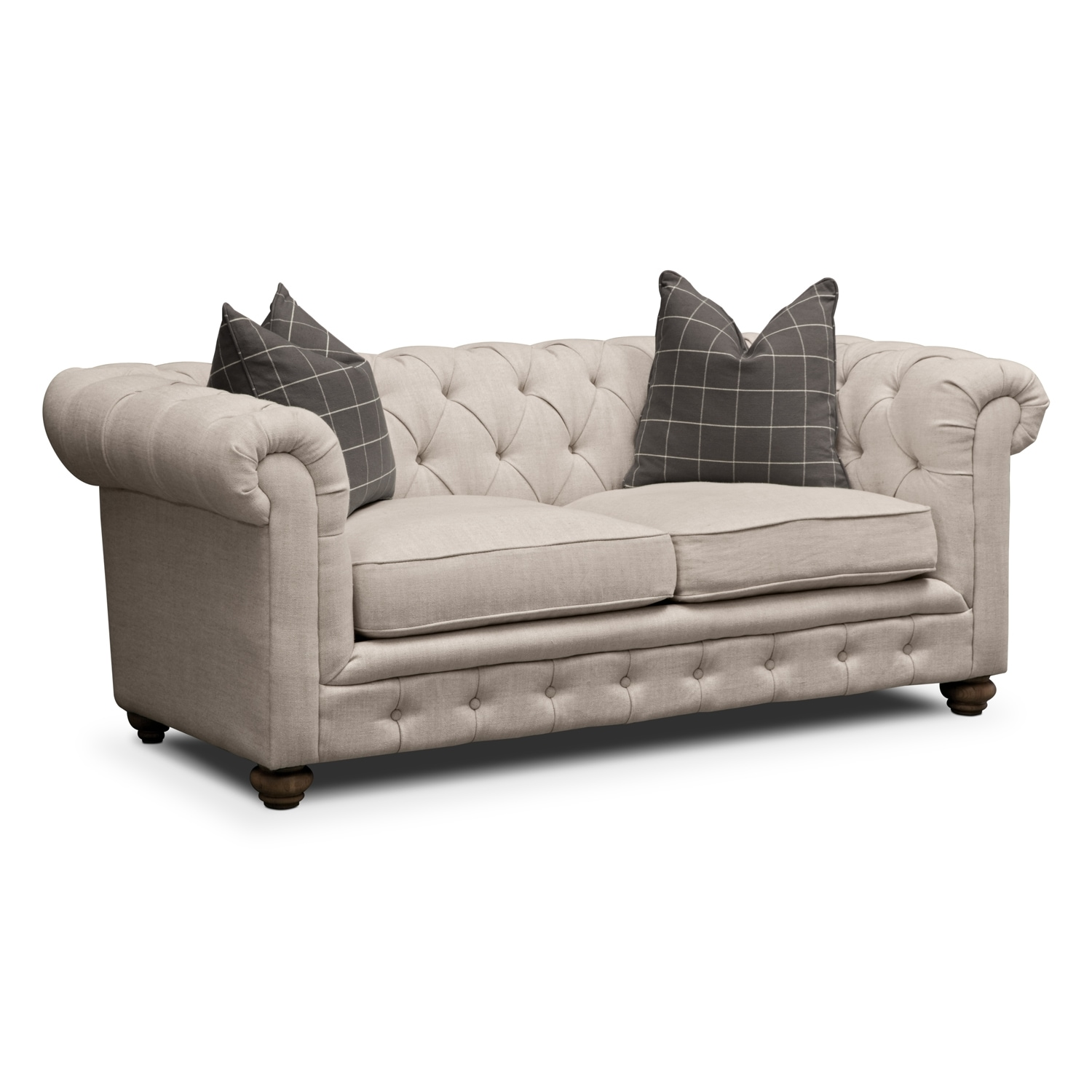 Living Room Furniture - Madeline Apartment Sofa - Beige