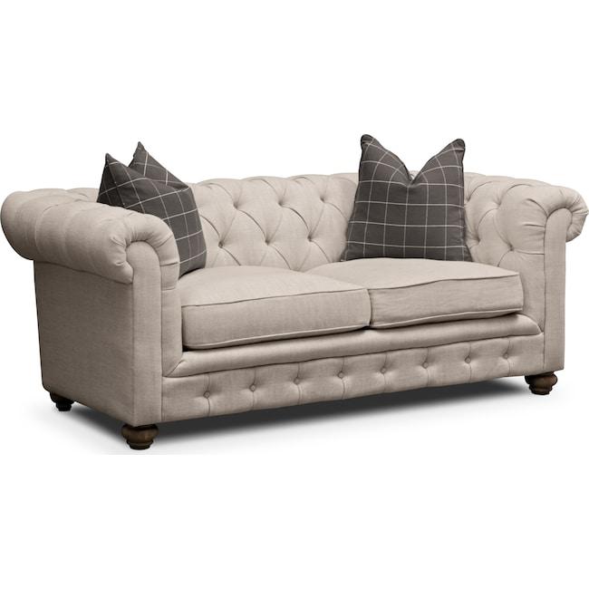 Living Room Furniture - Madeline Apartment Sofa - Beige