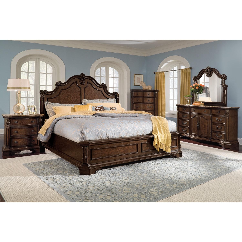 monticello dresser and mirror pecan value city furniture