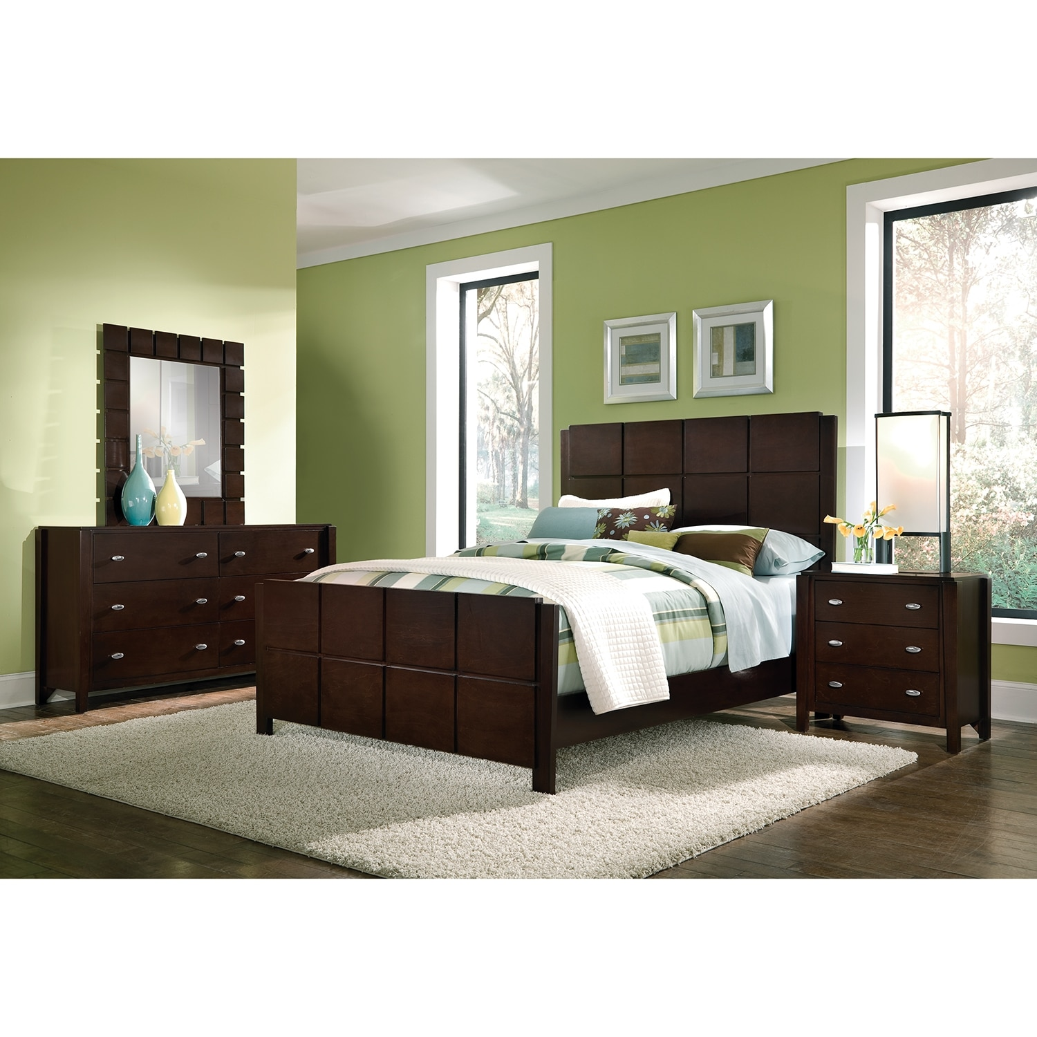 Mosaic 6-Piece King Bedroom Set - Dark Brown | Value City ...