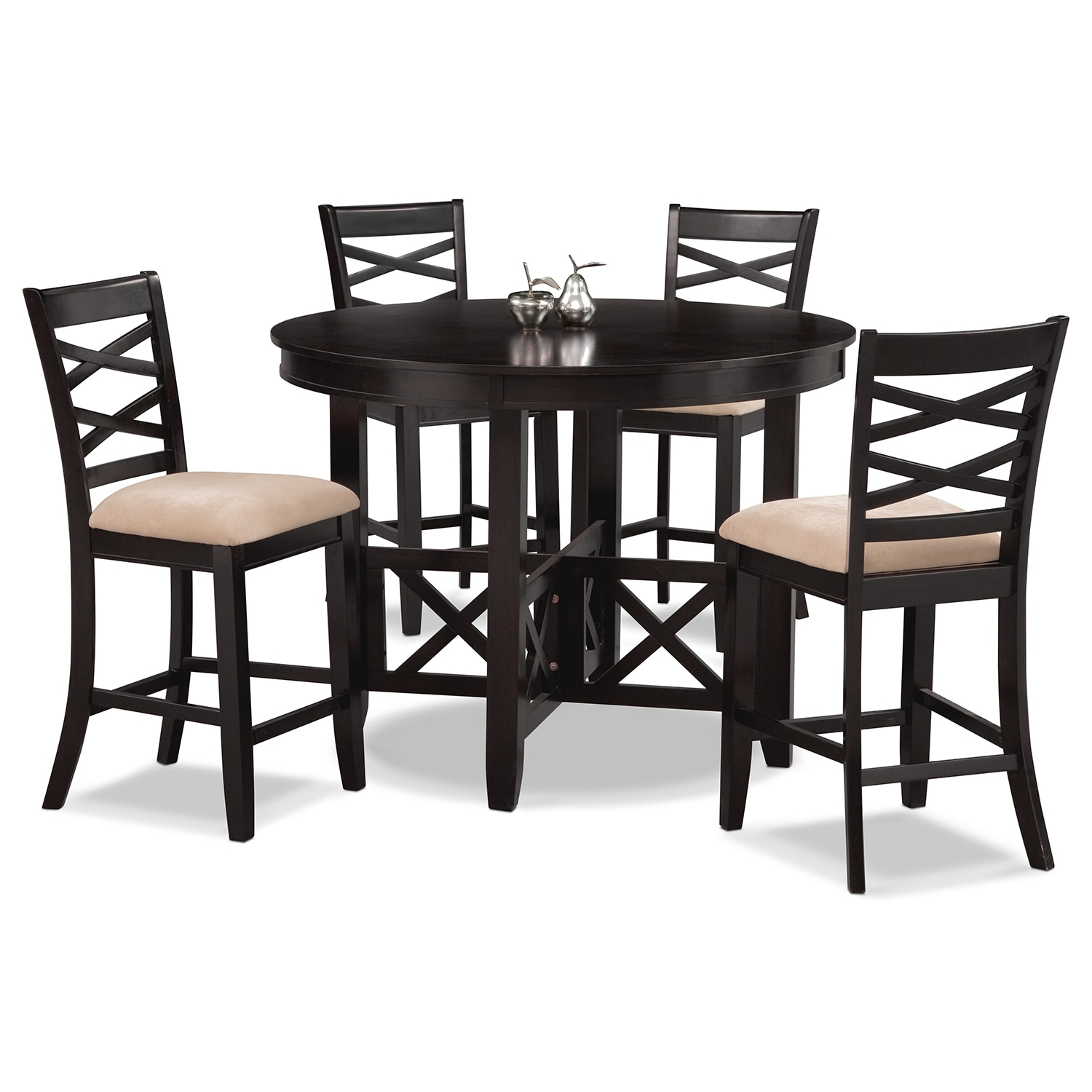 Americana Espresso 5 Pc. Counter-Height Dinette