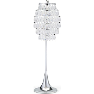 Hanging Glass Buffet Lamp