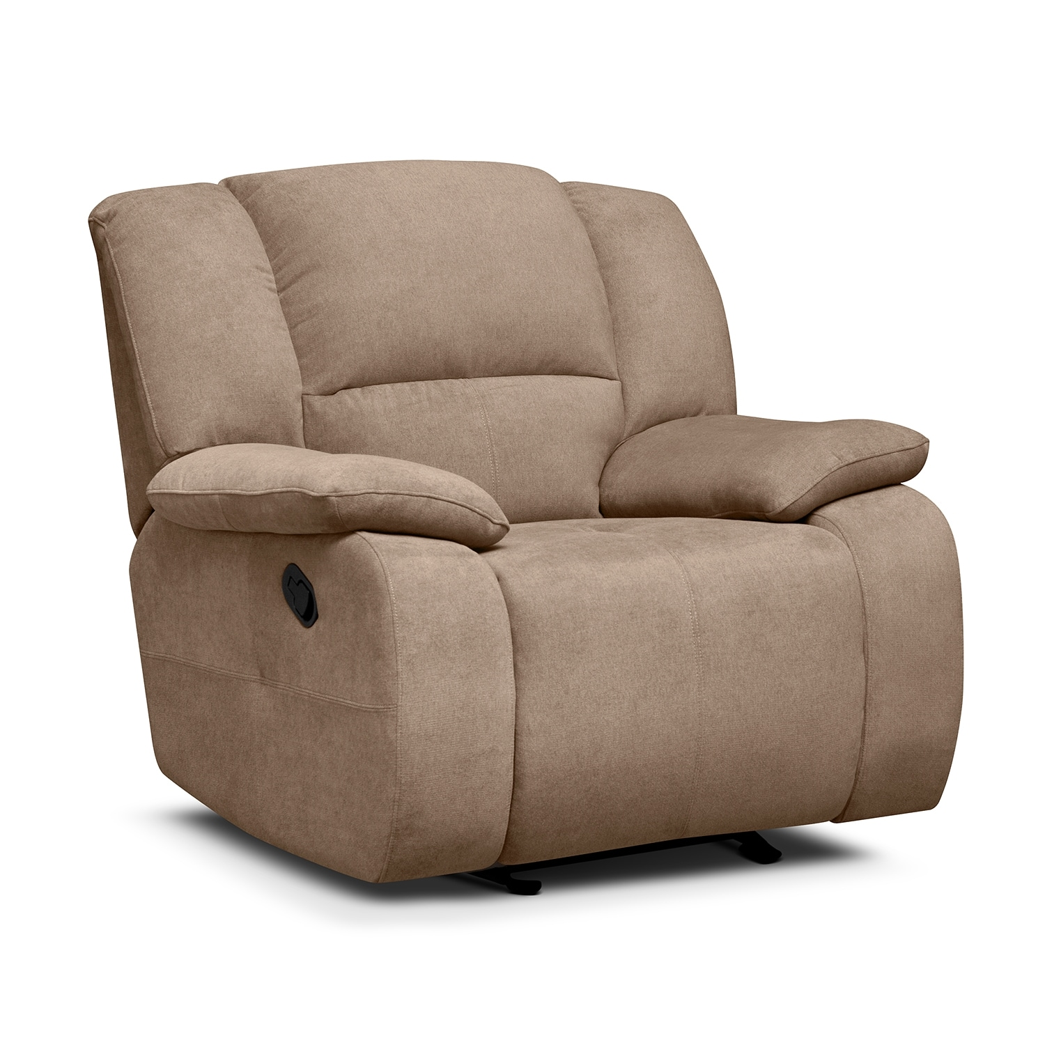 Living Room Furniture - Destin Beige Glider Recliner