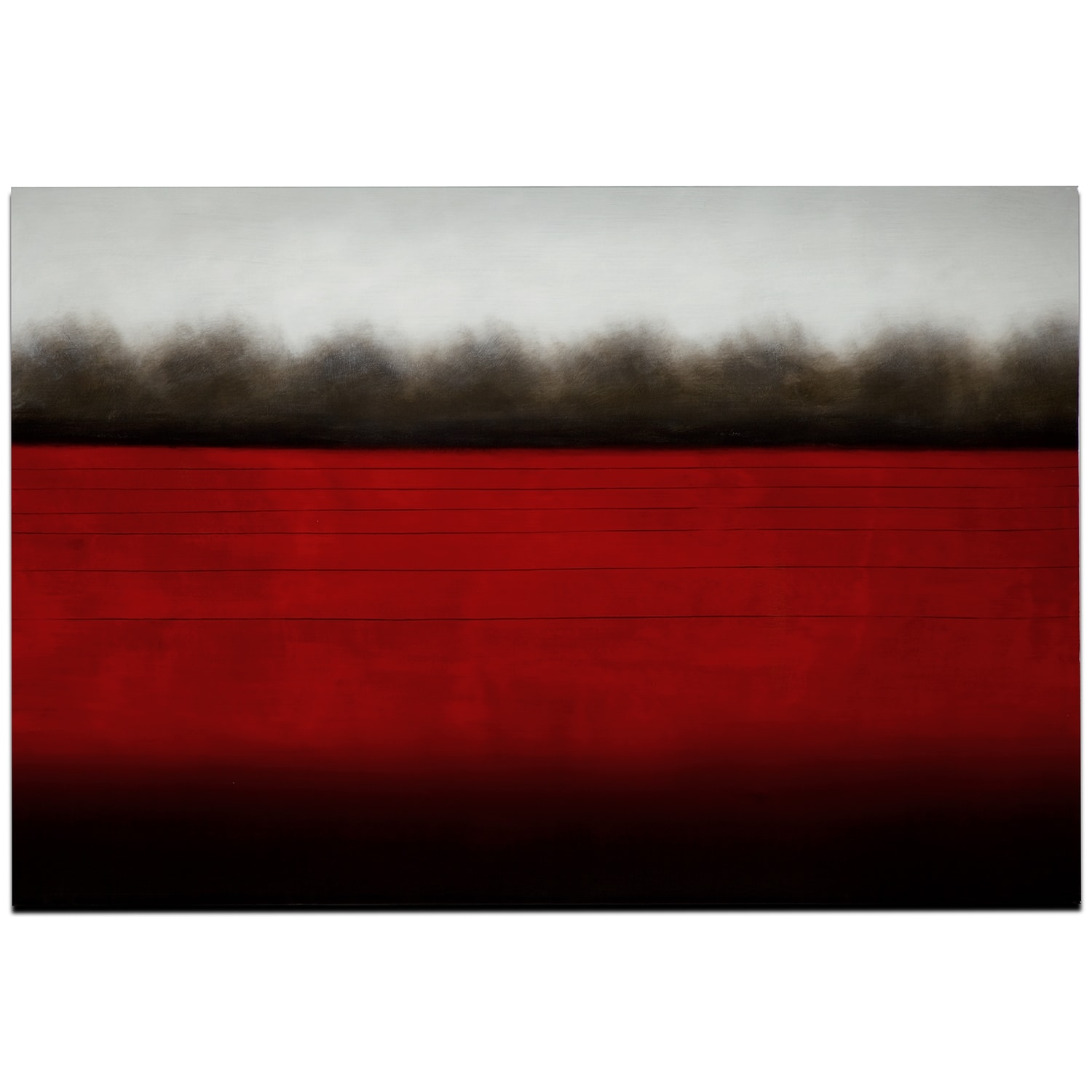 Red Horizon Canvas Print