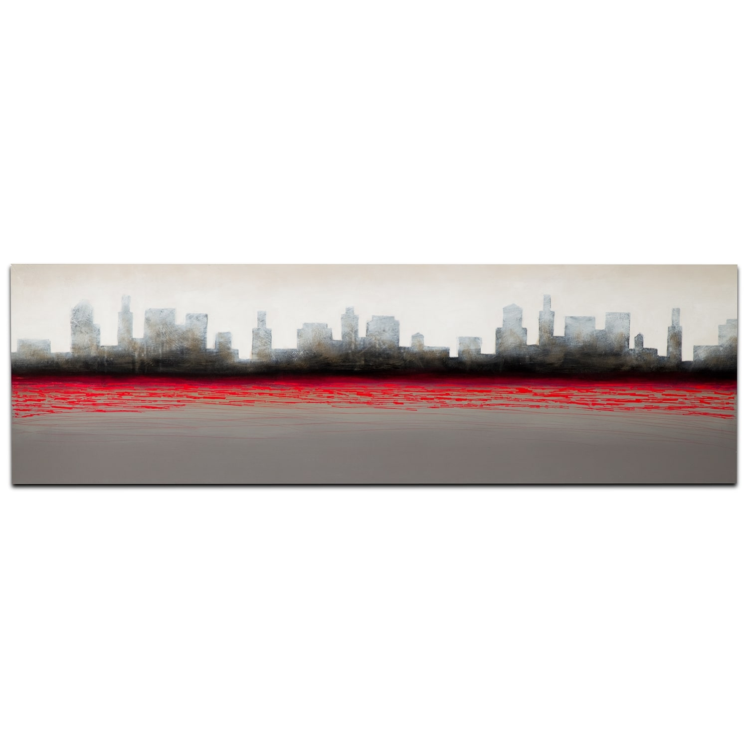 Home Accessories - Red City Canvas Print