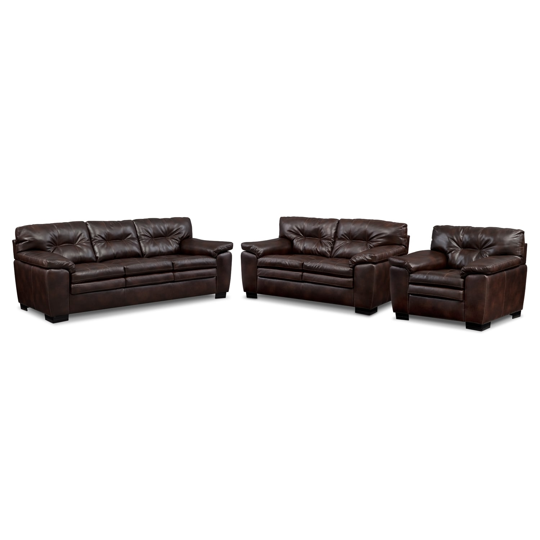 Legend Brown 3 Pc. Living Room