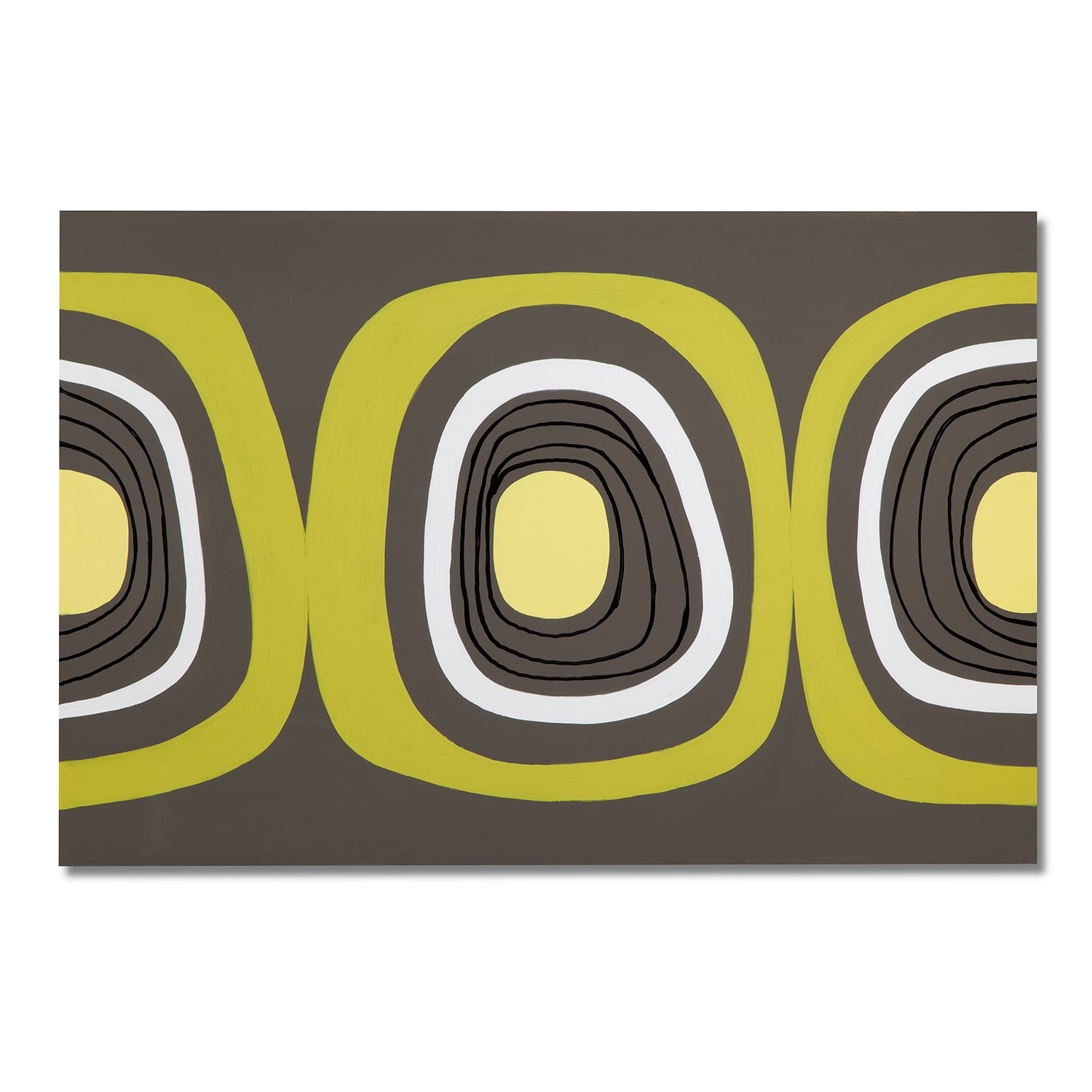 Green and Black Circle Canvas Print