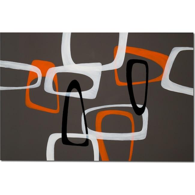 Home Accessories - Retro Shapes Canvas Print