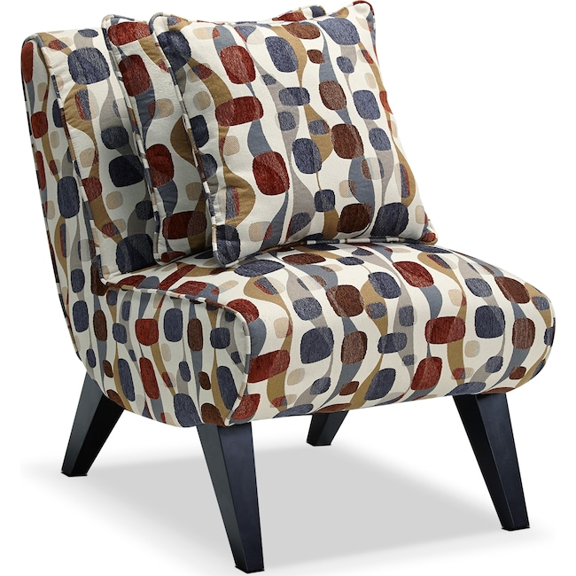 Accent and Occasional Furniture - Adrian Accent Chair - Geometric