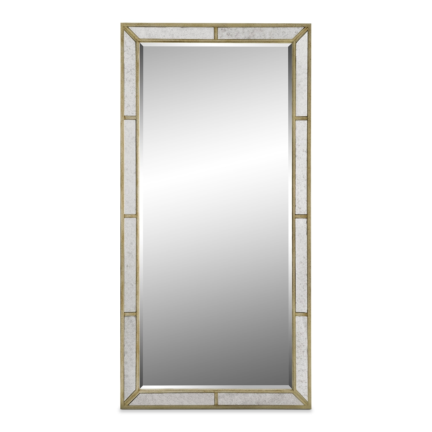 Bedroom Furniture - Angelina Floor Mirror - Metallic