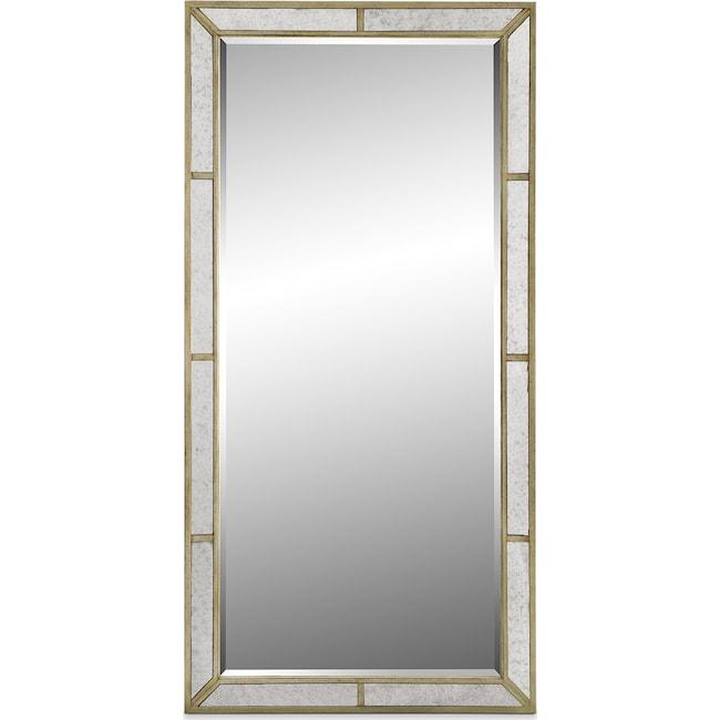 Bedroom Furniture - Angelina Floor Mirror - Metallic
