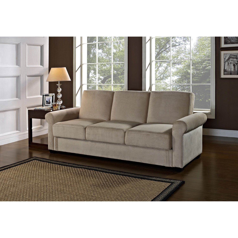 Storage Living Room Furniture Thomas Futon Sofa Bed With Storage Light Brown Value City