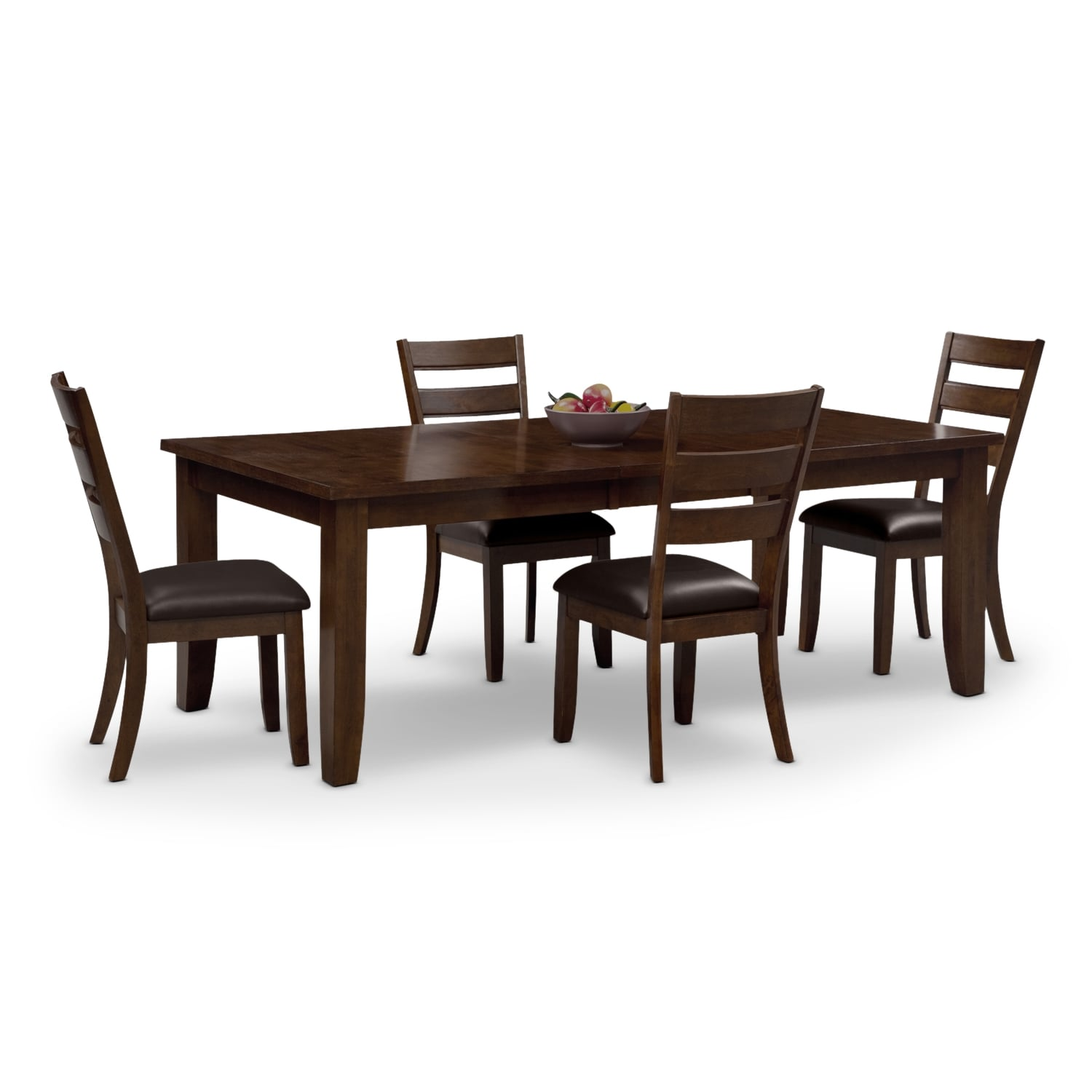 abaco table and 4 chairs brown - Dining Room Sets Value City Furniture