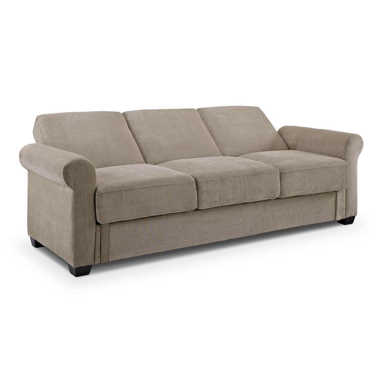 Thomas Futon Sofa Bed with Storage Light Brown