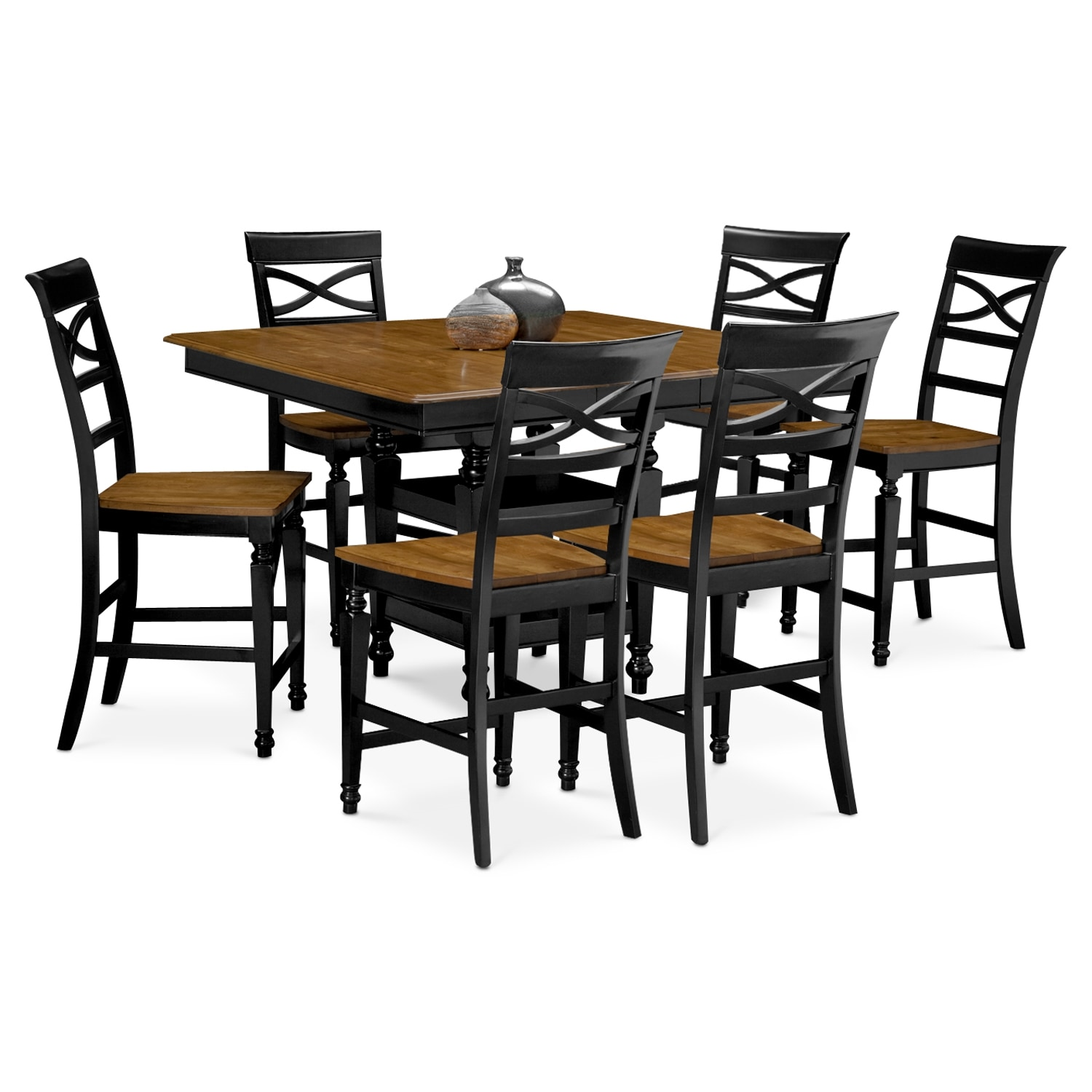 Dining Room Furniture - Chesapeake 7 Pc. Counter-Height Dining Room