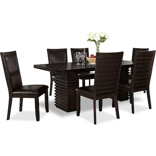 Paragon Table and 6 Chairs   Merlot and Brown. Dining Room Dinette Tables   Value City Furniture   Value City