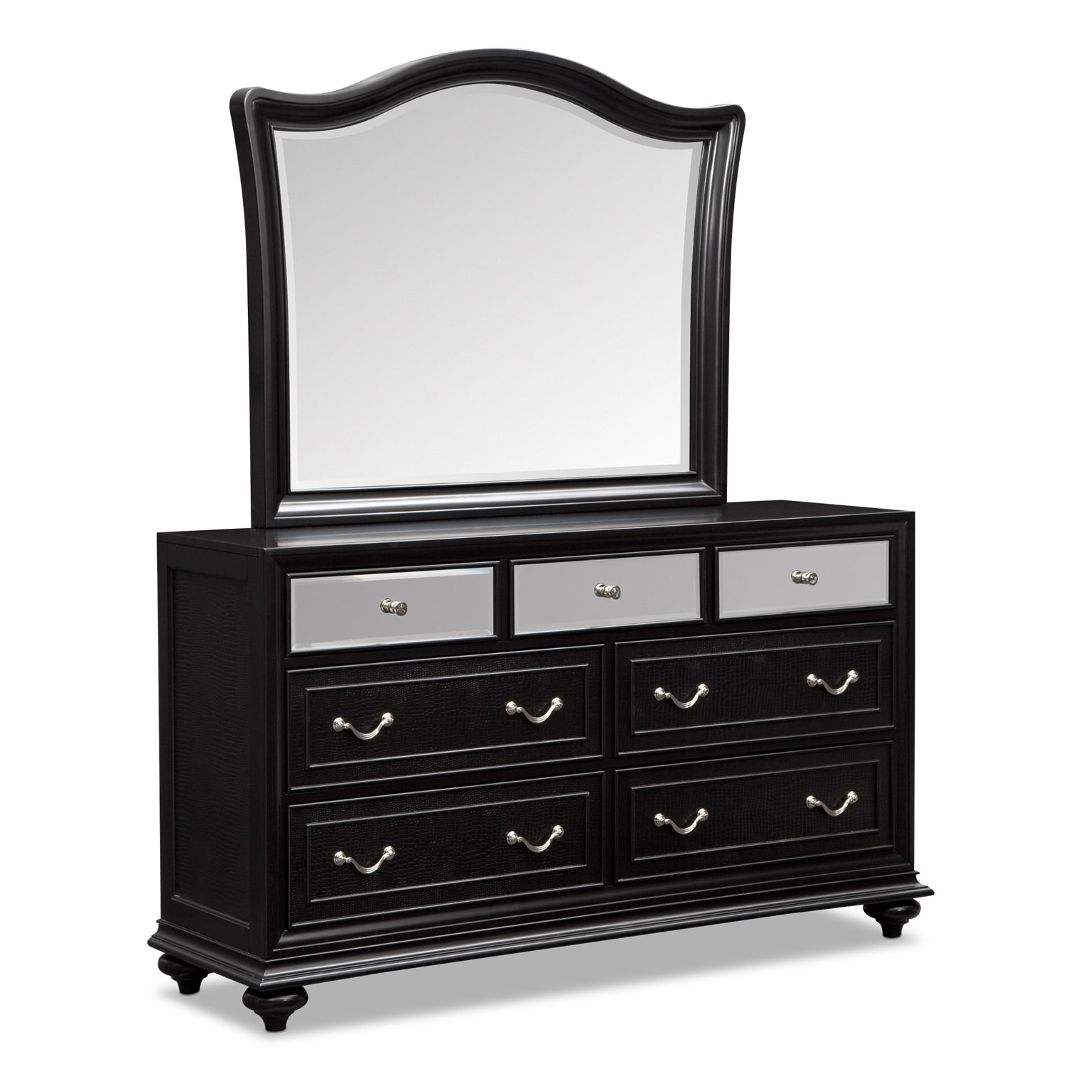 High Quality Marilyn Dresser And Mirror   Ebony