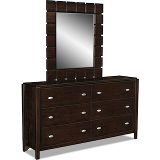 Mosaic Dresser and Mirror
