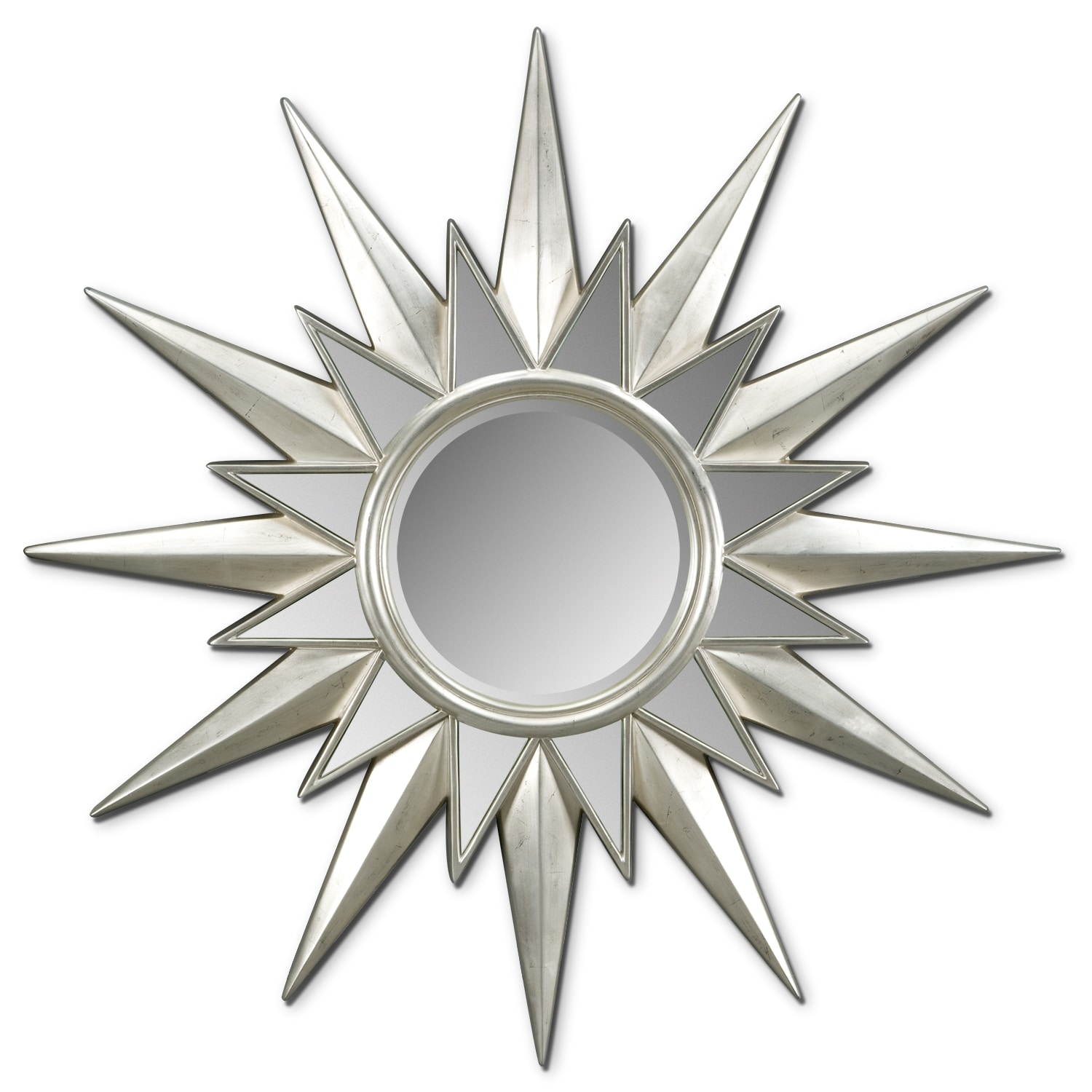 Home Accessories - Starburst Mirror - Silver Leaf