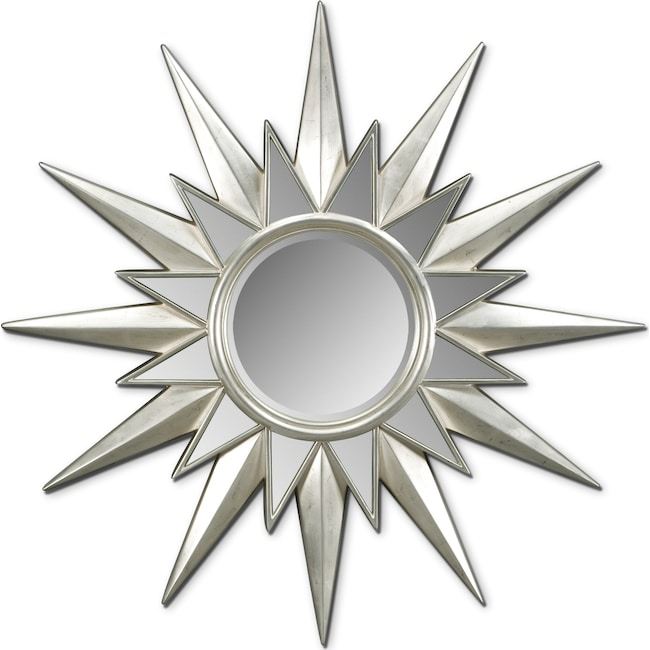 Accent and Occasional Furniture - Starburst Mirror - Silver Leaf