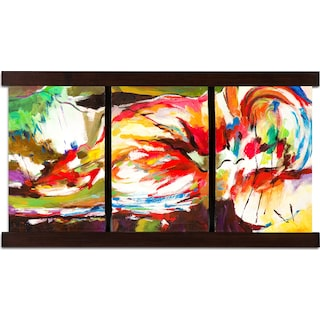 Bent Colors Mixed Media Painting