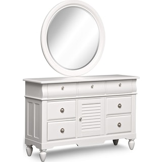 Seaside Dresser and Mirror - White