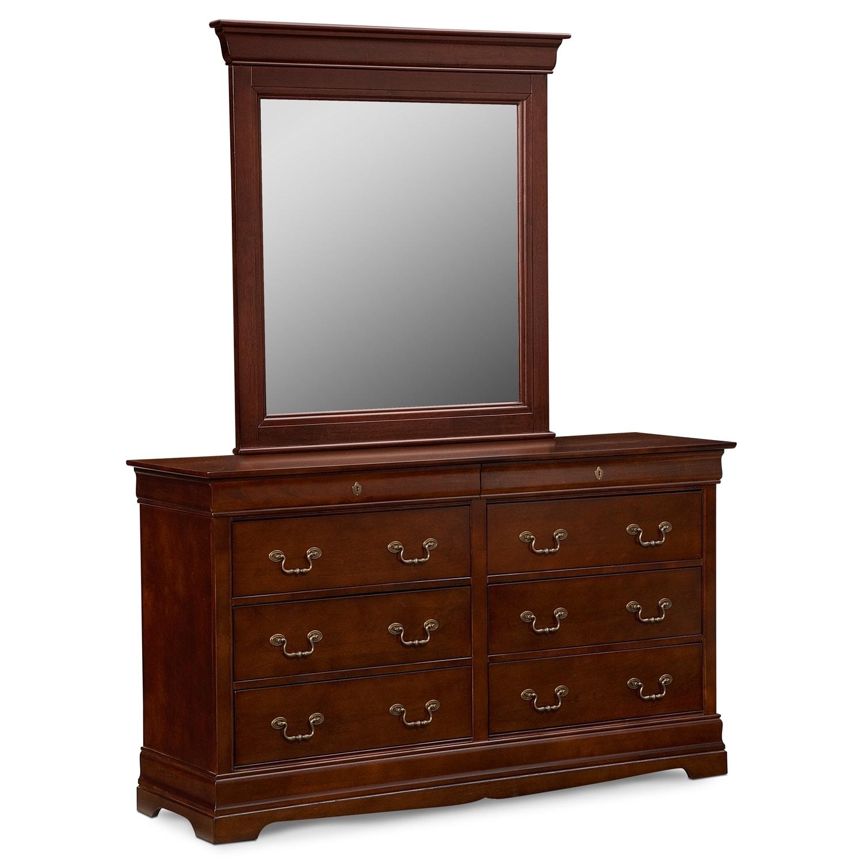 Neo Classic Cherry Dresser & Mirror