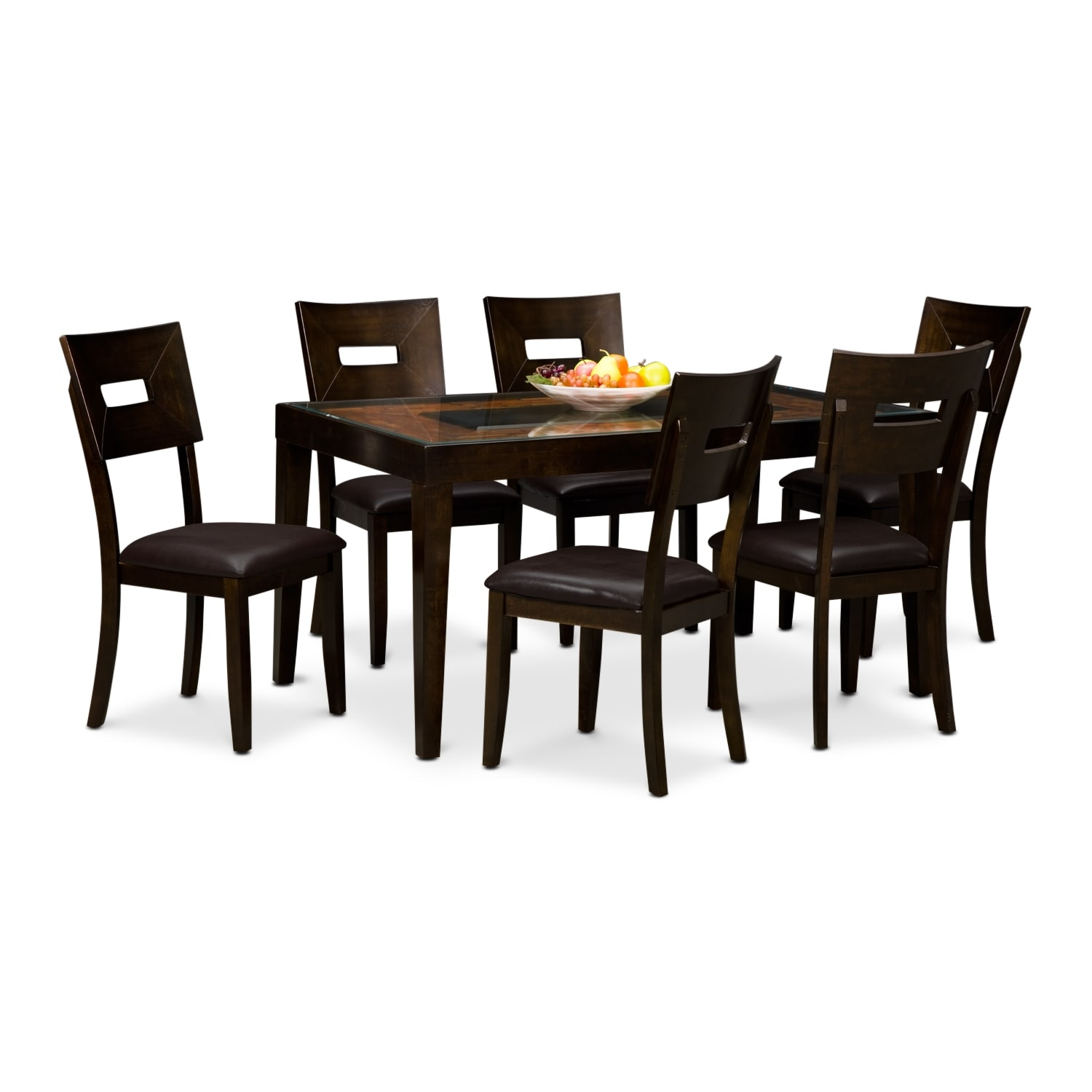 Dining Room Furniture - Cyprus 7 Pc. Dinette