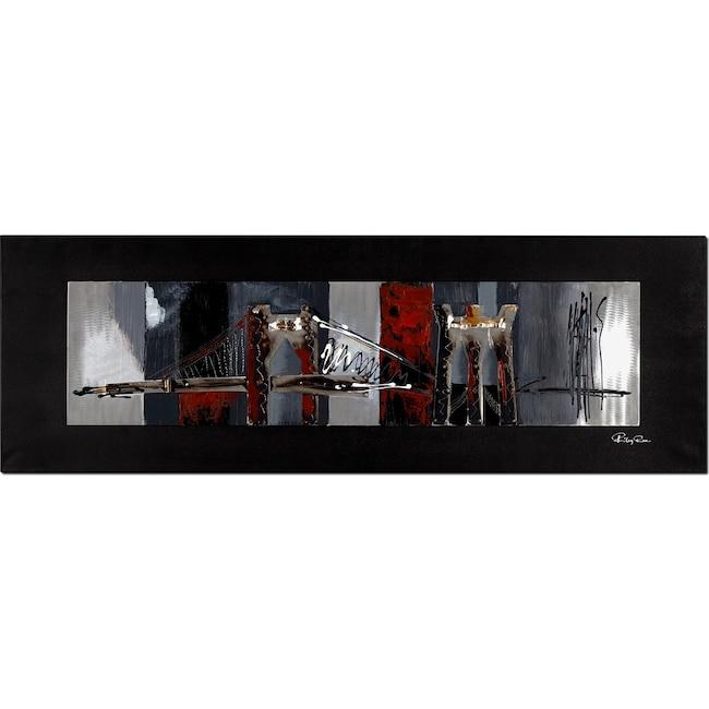 Home Accessories - Metal Bridge Mixed Media Painting
