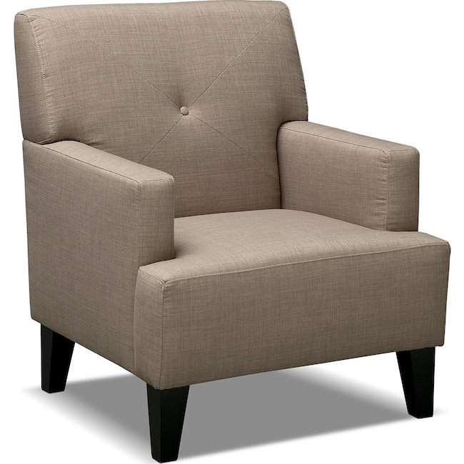 Living Room Furniture - Avalon Accent Chair - Wheat