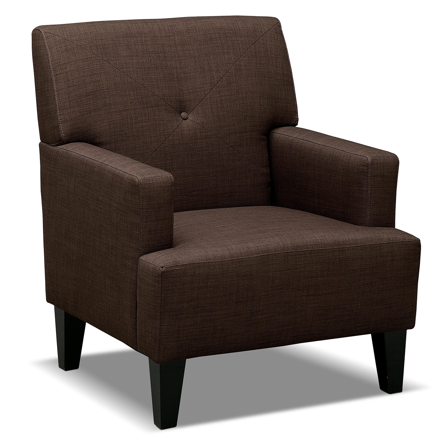 Living Room Furniture - Avalon Accent Chair - Espresso