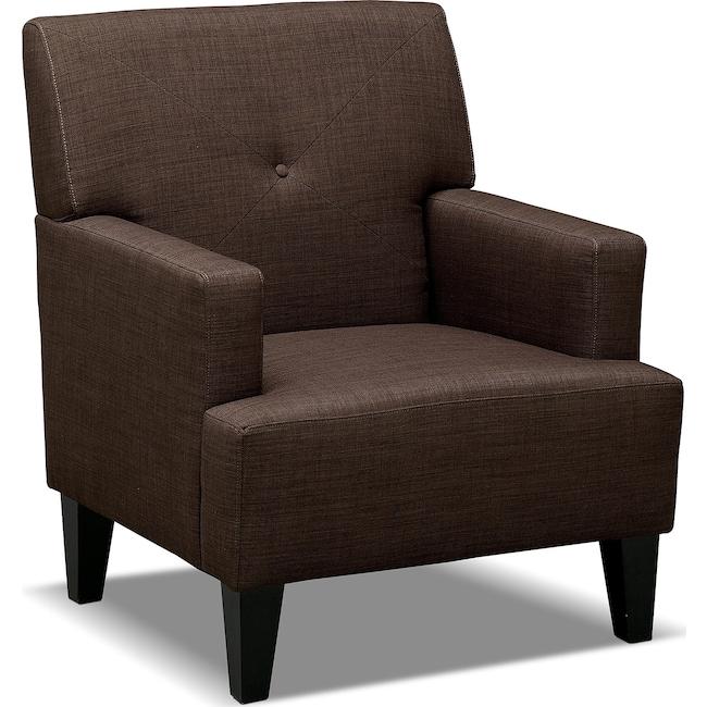 Living Room Furniture - Avalon Accent Chair - Espresso
